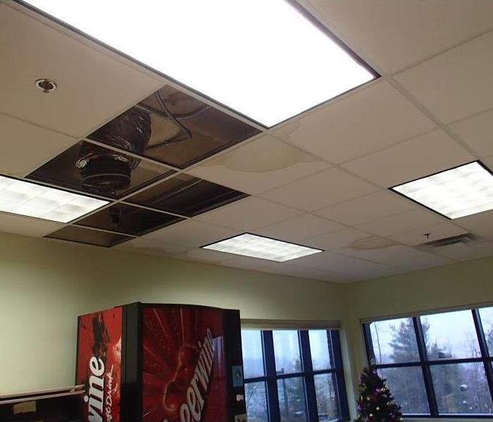 Water Damage at Henderson County Business  Before