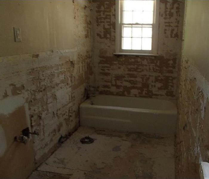 Entire Bathroom Has to Be Stripped After Water Damage In Henderson County Home After